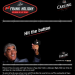 Frank Holiday Weekend Prize Promotion for Carling by Element London