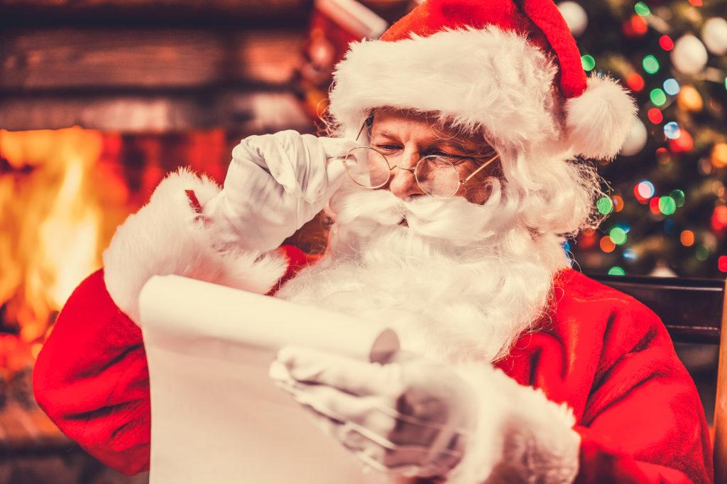 Santa Claus checking list Element Last Minute Christmas Prizes