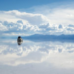 Salar de Uyuni, Bolivia with a car to illustrate our sales incentives ideas | Element - The Prize & Incentive People