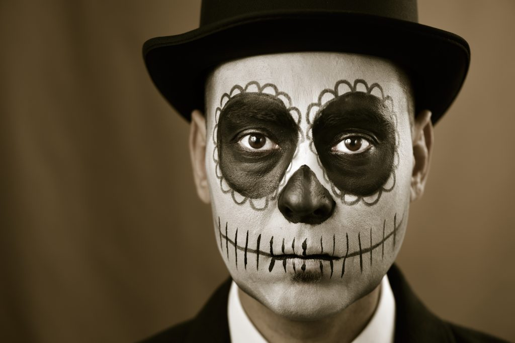 Day of the Dead facepaint to illustrate Element Halloween Prizes 2017